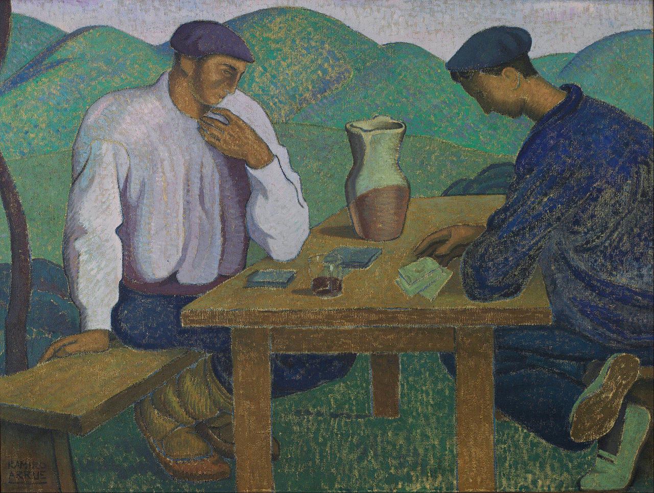 Ramiro Arrúe - Basques jouant aux cartes