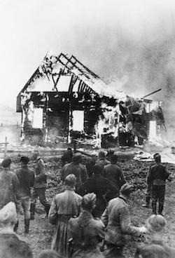 brinnande synagoga Litauen 1941