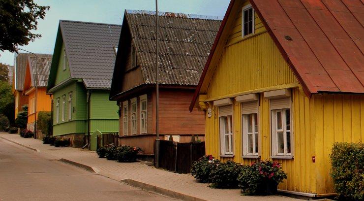 Traditionella trähus, Litauen (Wikipedia)
