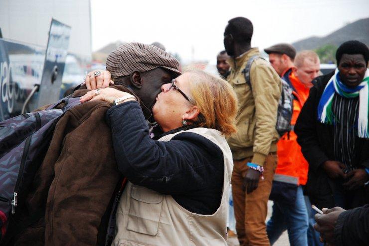 """Bild från utrymningen av """"Jungle"""" i Calais (Flickr)"""