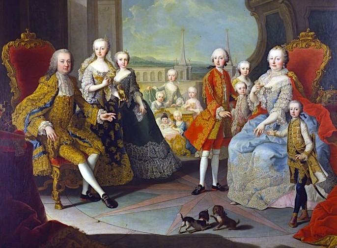 Kejsarinnan med make och tretton av barnen