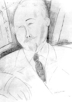 Apollinaire - teckning av Modigliani