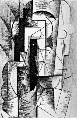 bild av Picassos porträtt av Apollinaire till samlingen Alcools