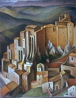 Olevano av den tyske målaren Alexander Kanoldt  (1881–1939)
