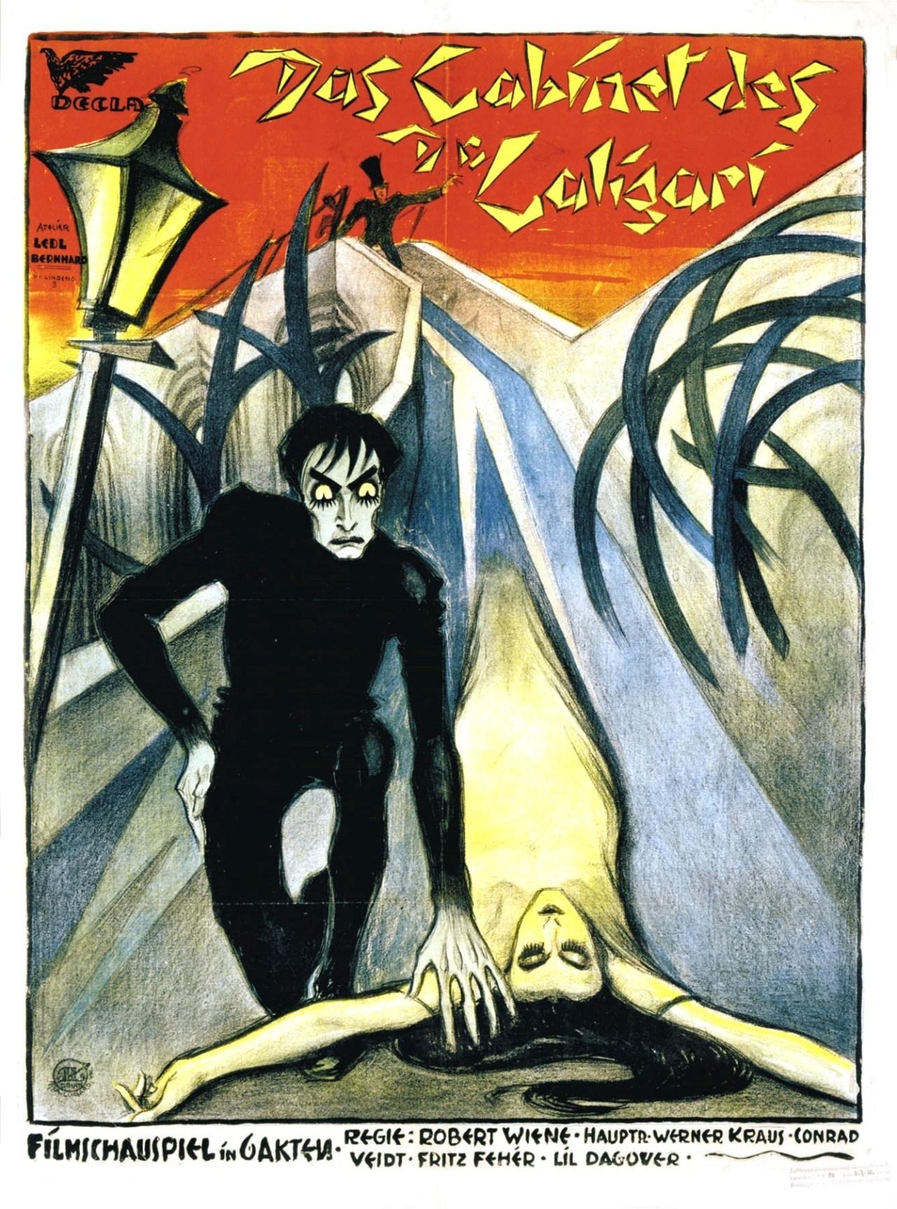 Affisch för filmen Das Cabinet des DR. Caligari från 1920