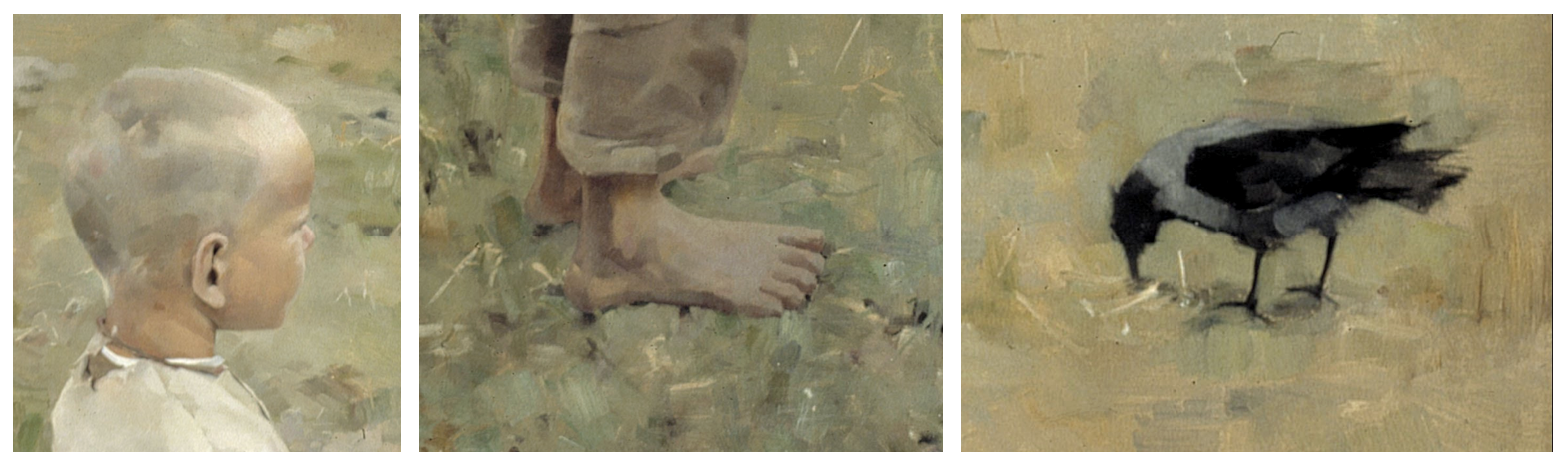 pojke kraka detaljer ur malningen