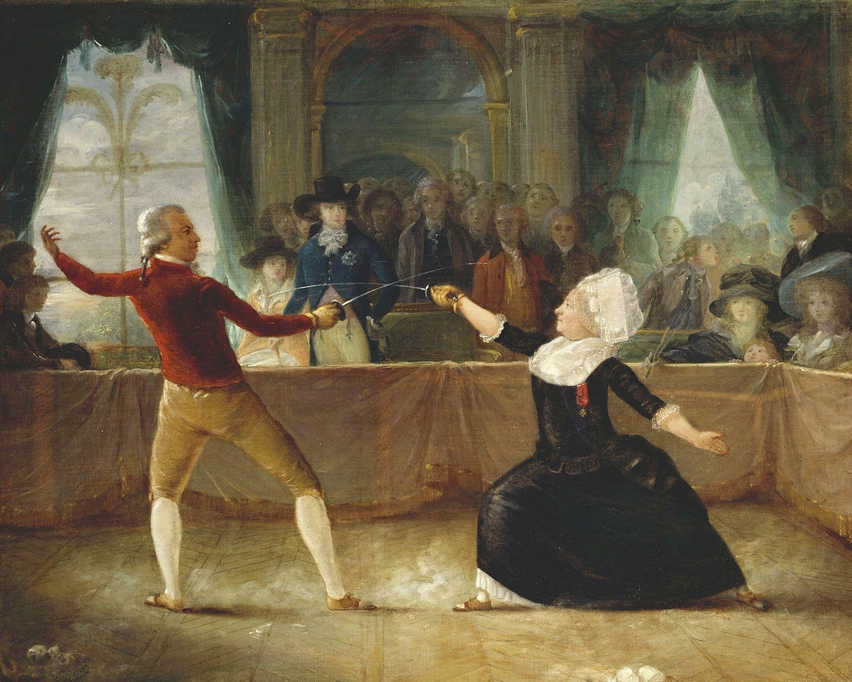 Alexandre-Auguste Robineau - Saint George fäktas mot Chevalier d´Éon
