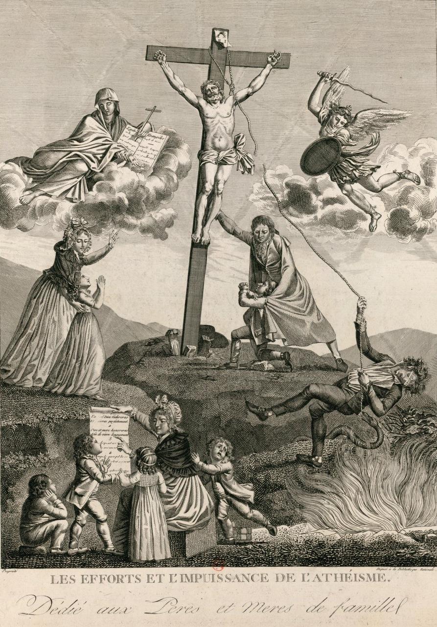 Les efforts et l'impuissance de l'athéisme : sujet utile à l'edification de la jeunesse, dédié aux peres et meres de famille. Paris (1797).