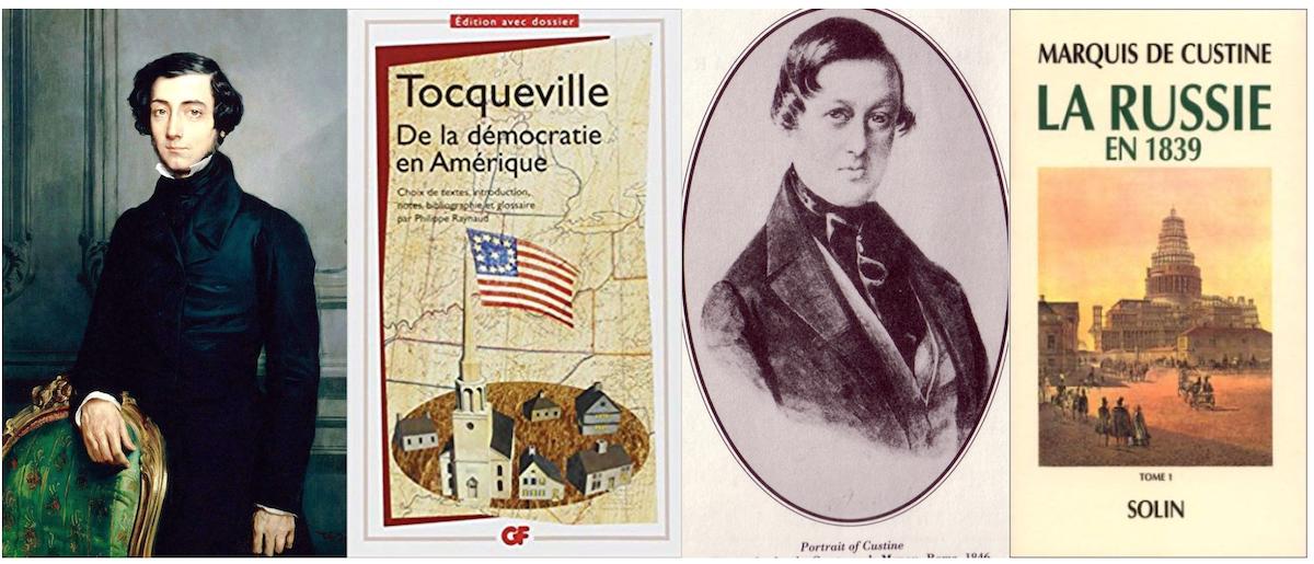 Alexis de Tocqueville (1805-1859) och Astolphe-Louis-Léonor, Marquis de Custine (1790–1857)