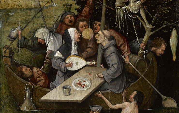 Hieronymus Bosch (circa 1450 –1516) - Das Narrenschiff (här beskuren)