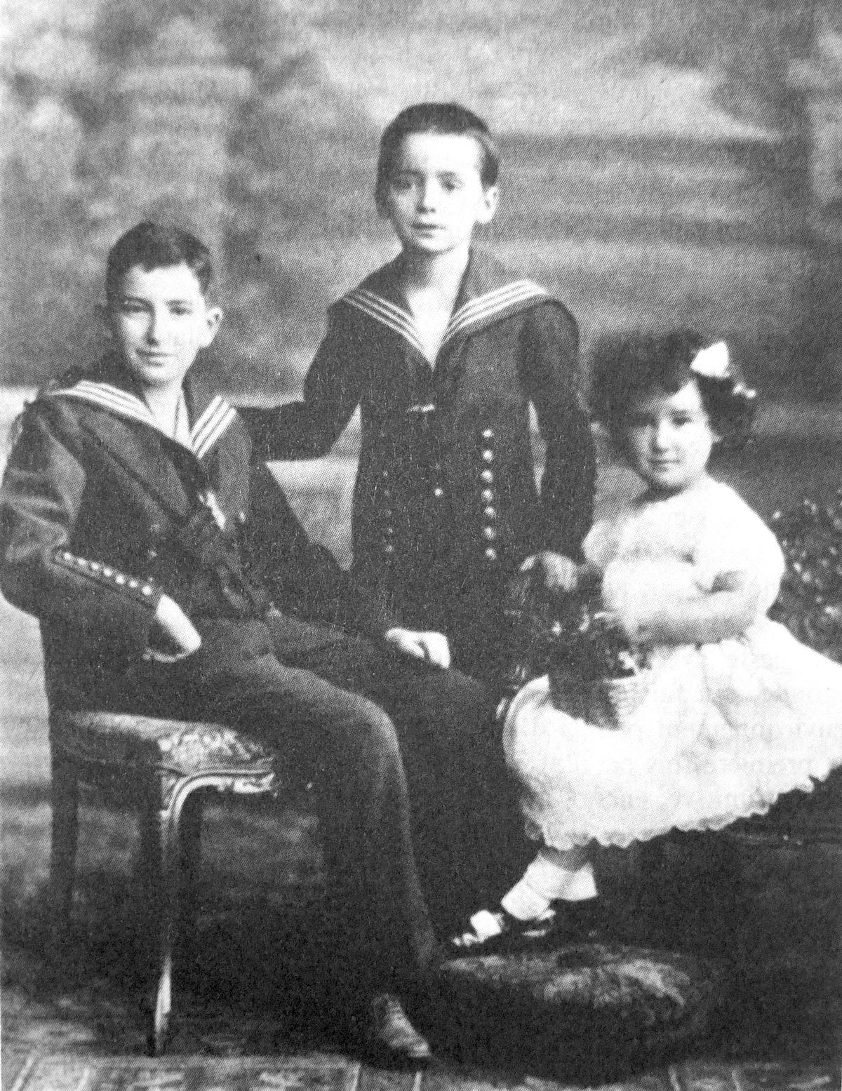 Artikelbild Walter Benjamin med bror och syster (Wikipedia)