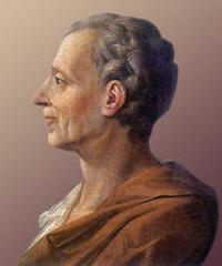 Porträtt av Montesqieu av anonym målare