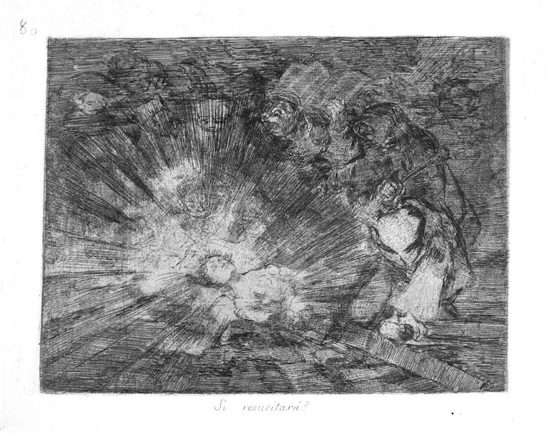"""Goya - """"Kommer den att återuppstå?"""" Från Los desastres de la guerra"""