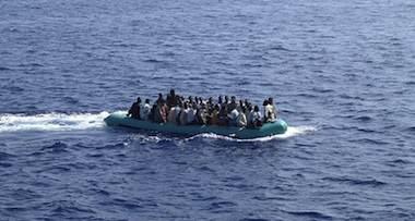 """""""Clandestini"""" utanför Lampedusa"""