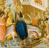 Pietro Lorenzetti - Intåget i Jerusalem. 1320 (Wiki Commons)