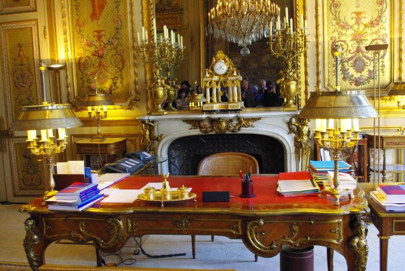 Presidentens skrivbord i Palais de l´Élysée