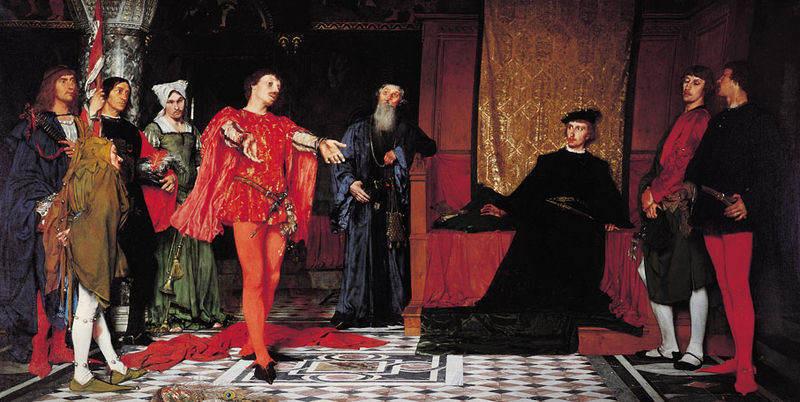 Czachórski - skådespelarna och Hamlet (Wikicommons)