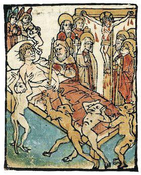 Die Stunde des Todes, Ars moriendi, circa 1460 (Wikicommons)