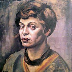 Självporträtt av Elfriede Lohse-Wächtler, mördad efter vistelse på mentalsjukhus.