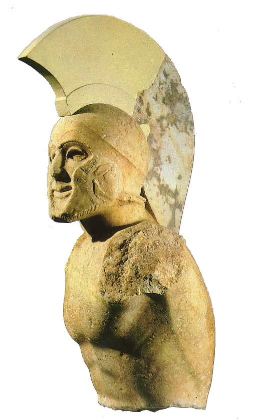 Marmorbyst ev. företsällande Kung Leonidas