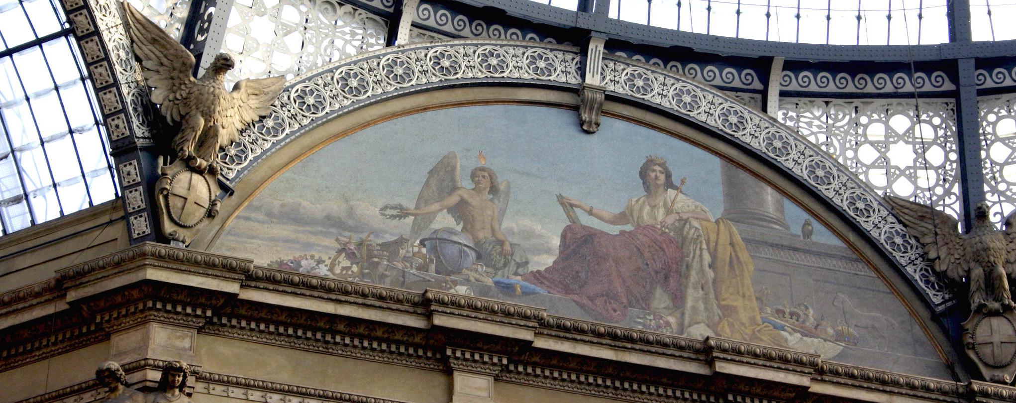 Europa med genius, Galleria Vittorio Emanuele, Milano (Wikipedia)