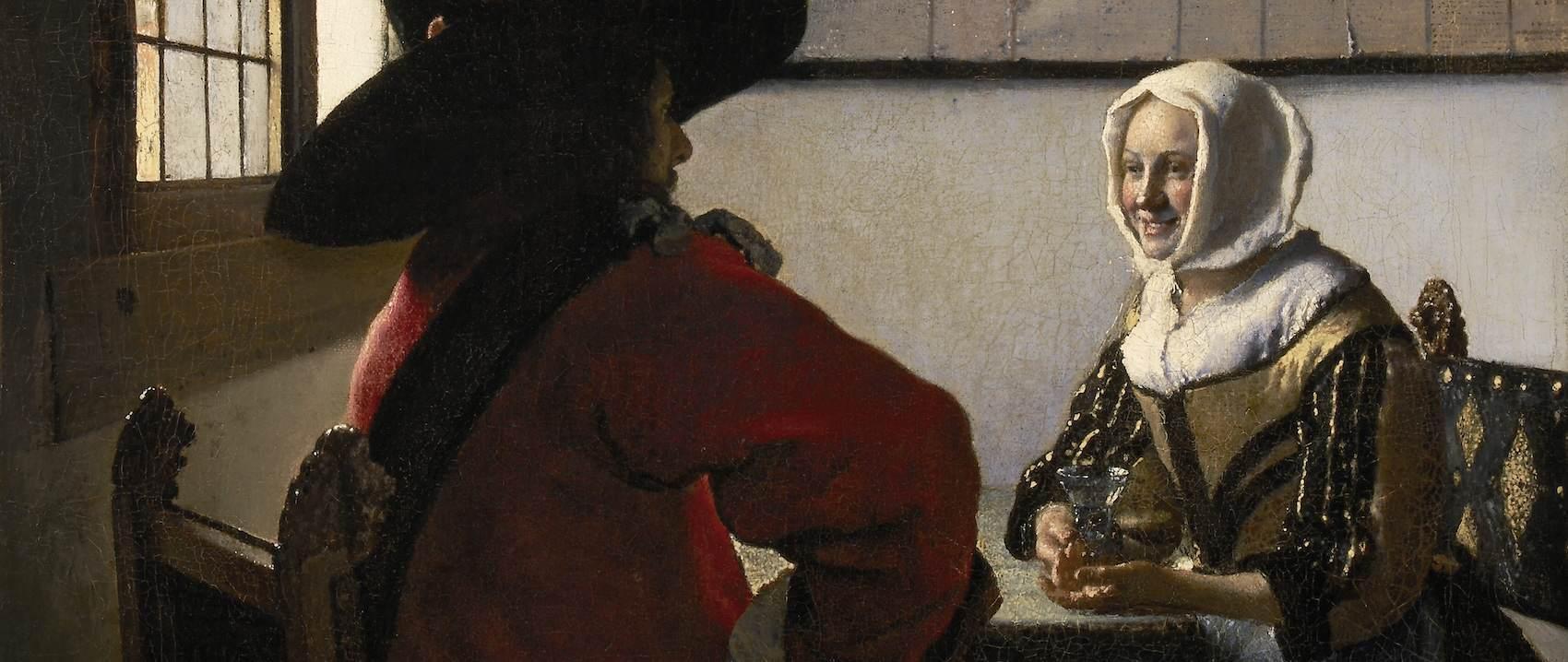 Johannes Vermeer - De Soldat en het Lachende Meisje (Wikicommons)