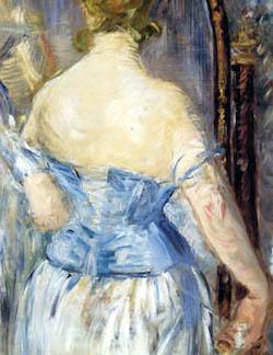 Èdouard Manet - Kvinna framför spegel (1876)