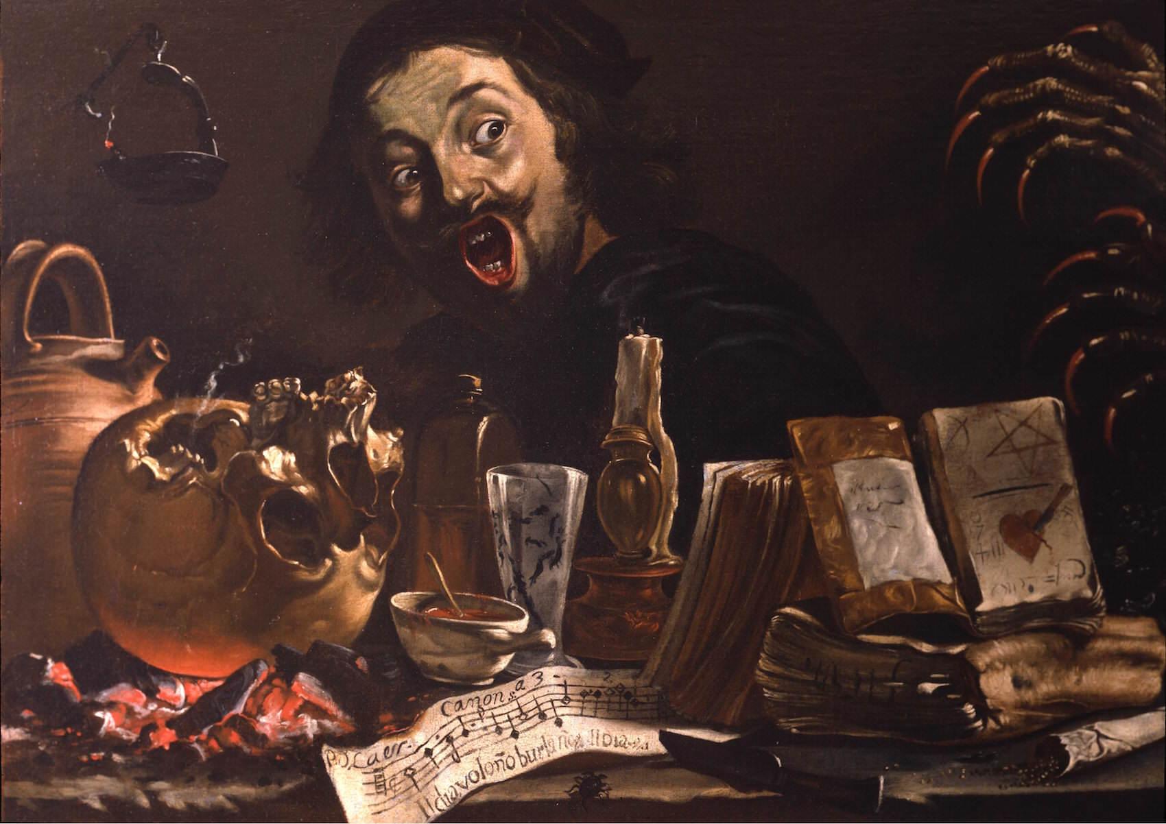 Pieter-Van-Laer-Il-Bamboccio-Autoportrait-avec-scène-de-magie