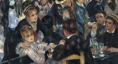 Renoir, Bal du moulin de la Galette (detalj)