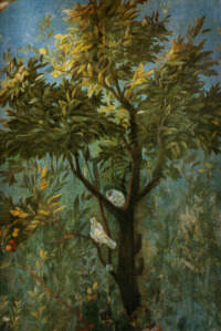Detalj från väggmålning Villa di Livia