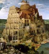 Subjonctifen blir till. Babels torn, Brueghel.