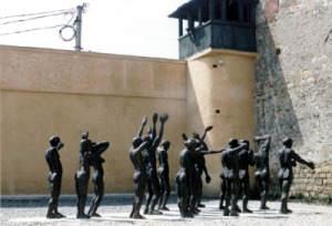 Minnesmärke i det tidigare fängelset i Sighet
