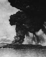 Krakatoa på ett foto från 1883