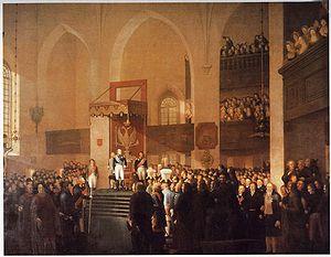 Alexander I öppnar lantdagen i Borgå 1809