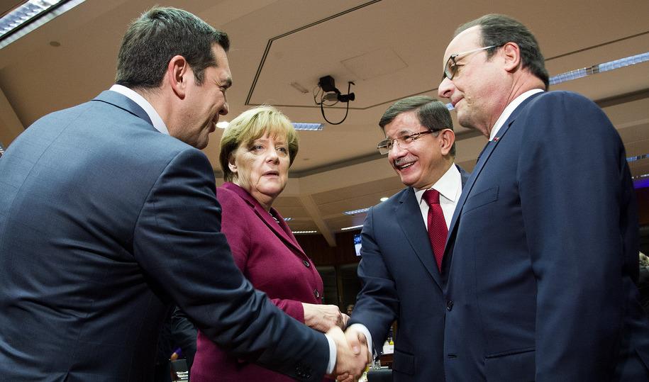 Merkel mellan två kriser, Grekland och Turkiet