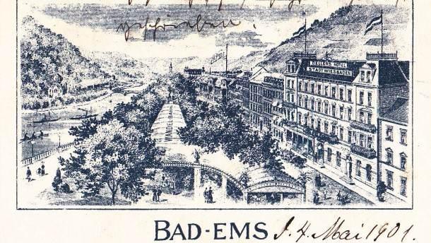 Brevkort från Hotell Wiesbaden i Bad Ems