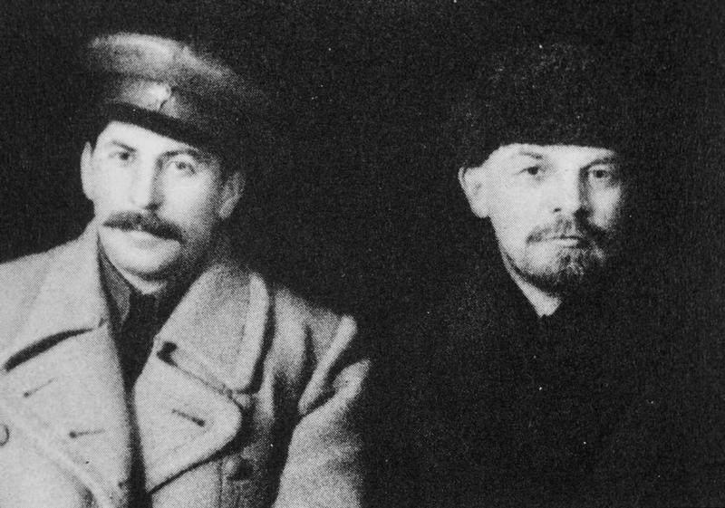 Stalin och Lenin 1917